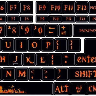 Universal Keyboard stickers Decoration Protector Decal Skin