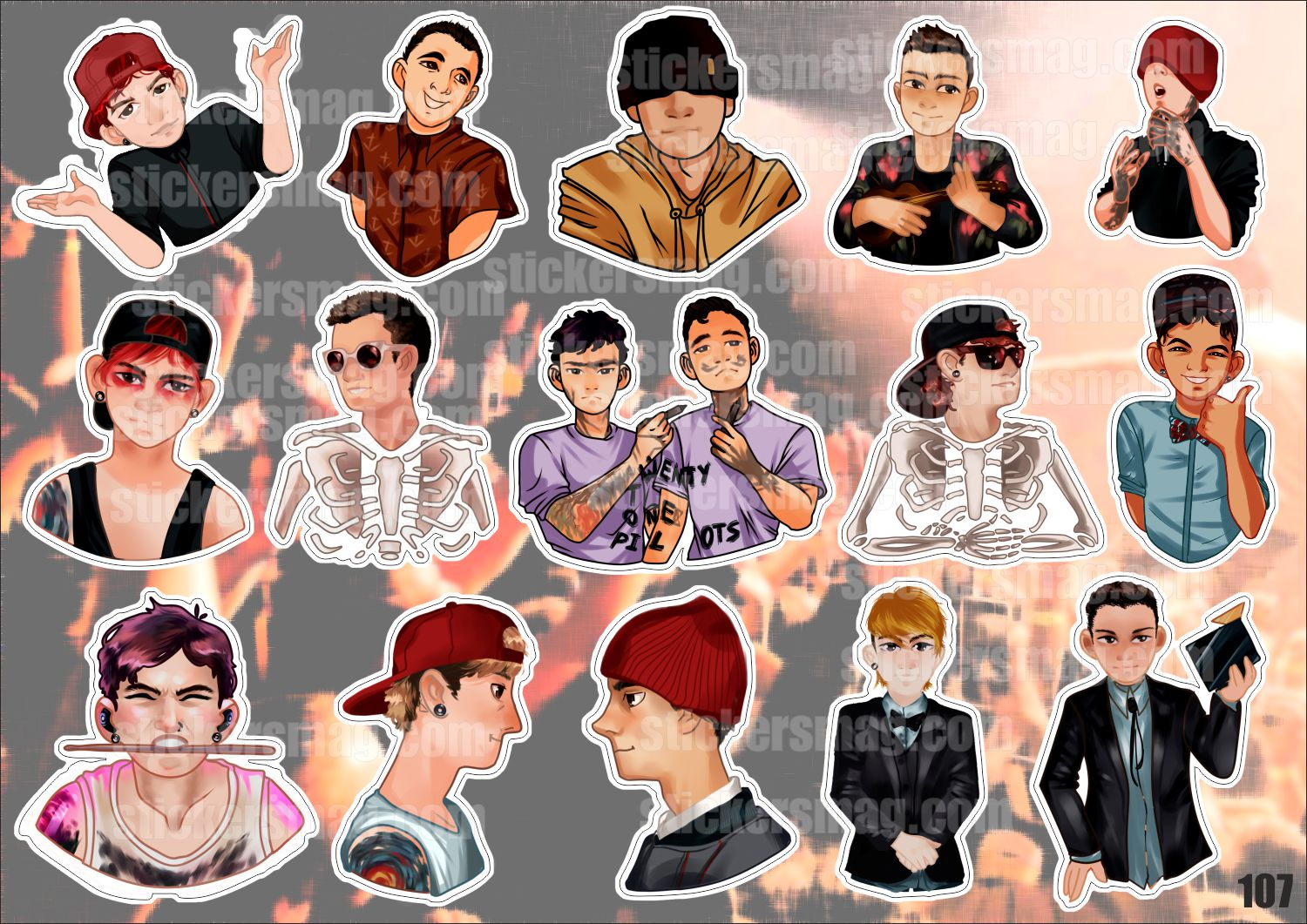 Twenty One Pilots Stickers Stickersmag