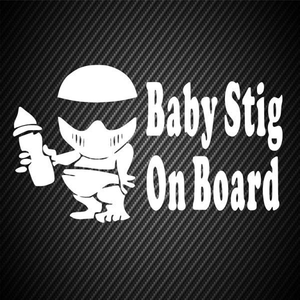 Baby Stig on board