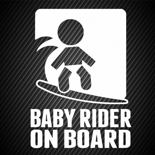 Baby motocross rider on board
