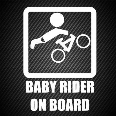 Baby mountain biker on board