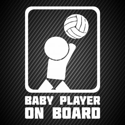 Baby volleyball player on board