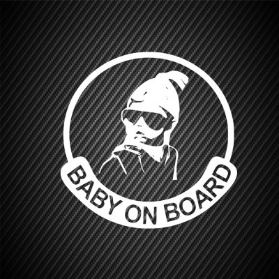 Baby on board round sticker