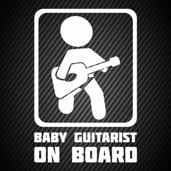 Baby guitarist on board