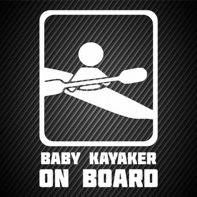 Baby kayaker on board