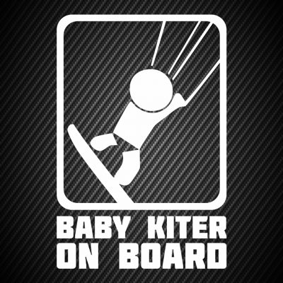 Baby kiter on board