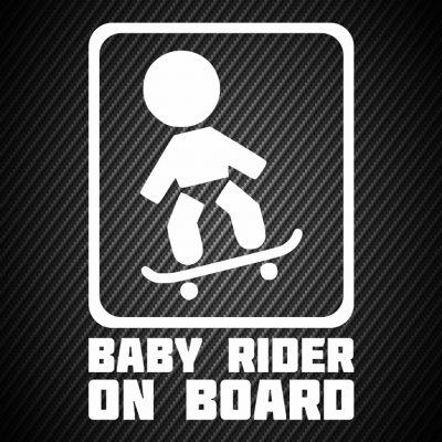 Baby skateboard rider