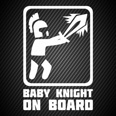 Baby knight on board