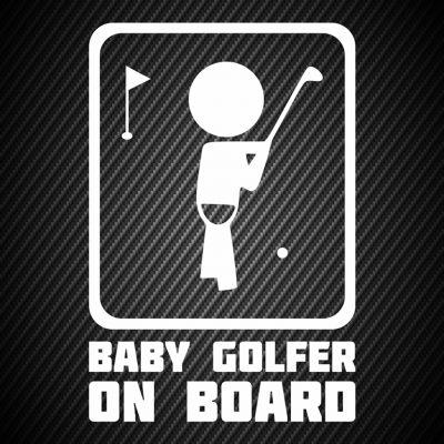 Boy golfer Sticker
