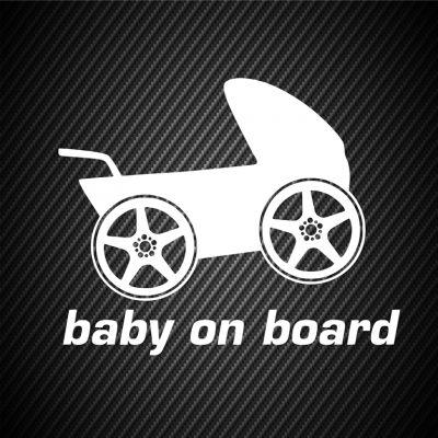Baby on board pram