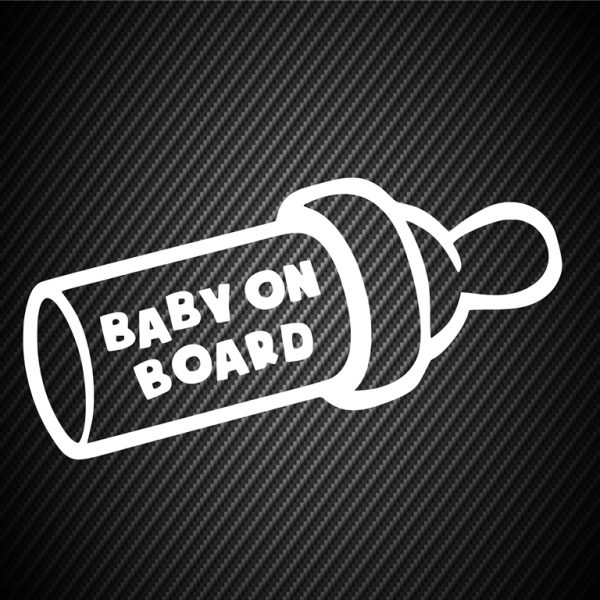 Baby on board food bottle